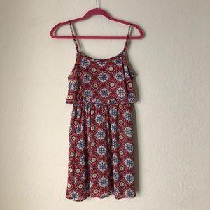 Flowy geometric dress